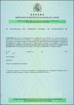 Certificado UE