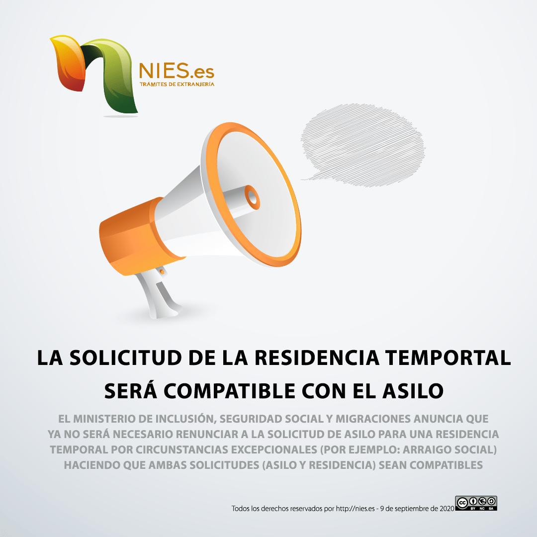 Autorización de residencia temporal por circunstancias excepcionales