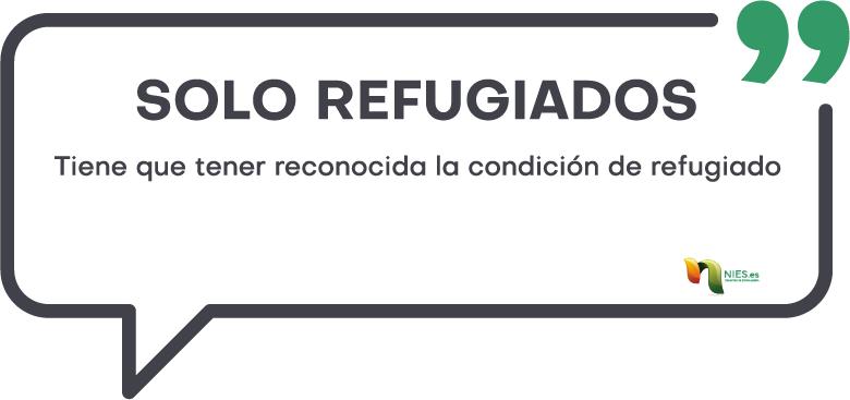 Nacionalidad española para refugiados