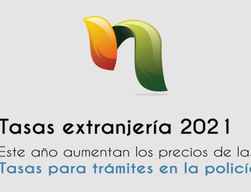 Tasas extranjería en 2021 (Tasas policía)