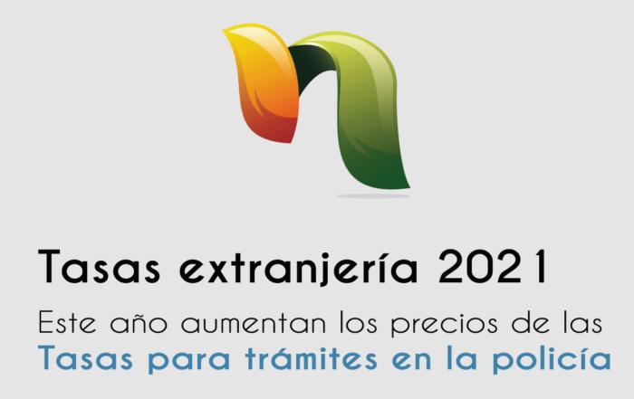 Tasas extranjería 2021